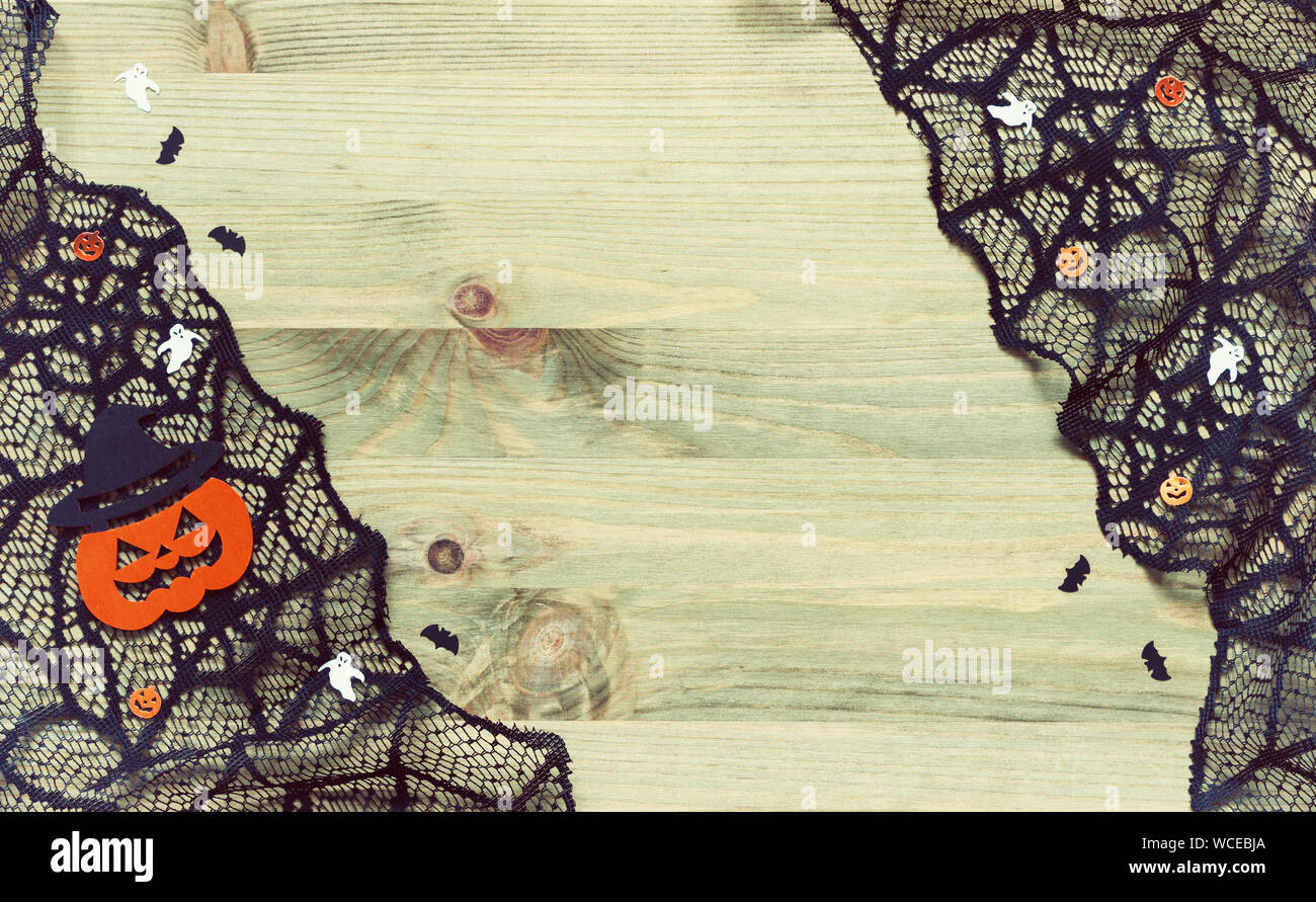 Halloween Background Spider Web Cobweb Lace And Smiling