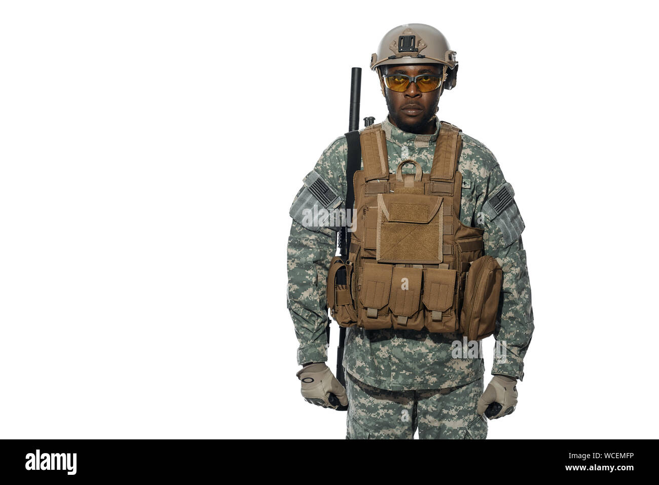 Army Helmet And Gun Stock Photos & Army Helmet And Gun Stock
