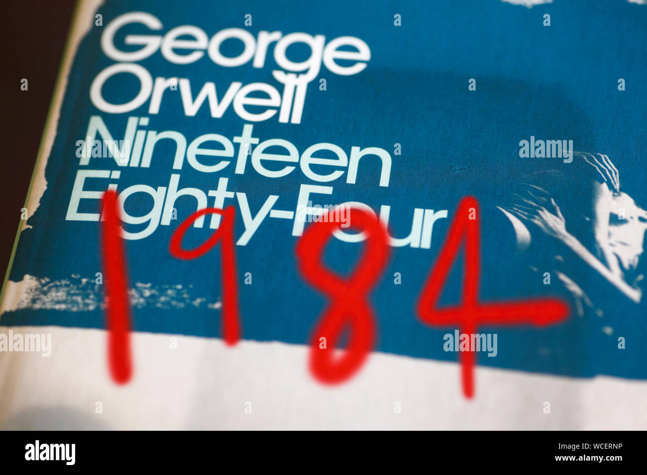 George Orwell's 1984 book cover. Stock Photo