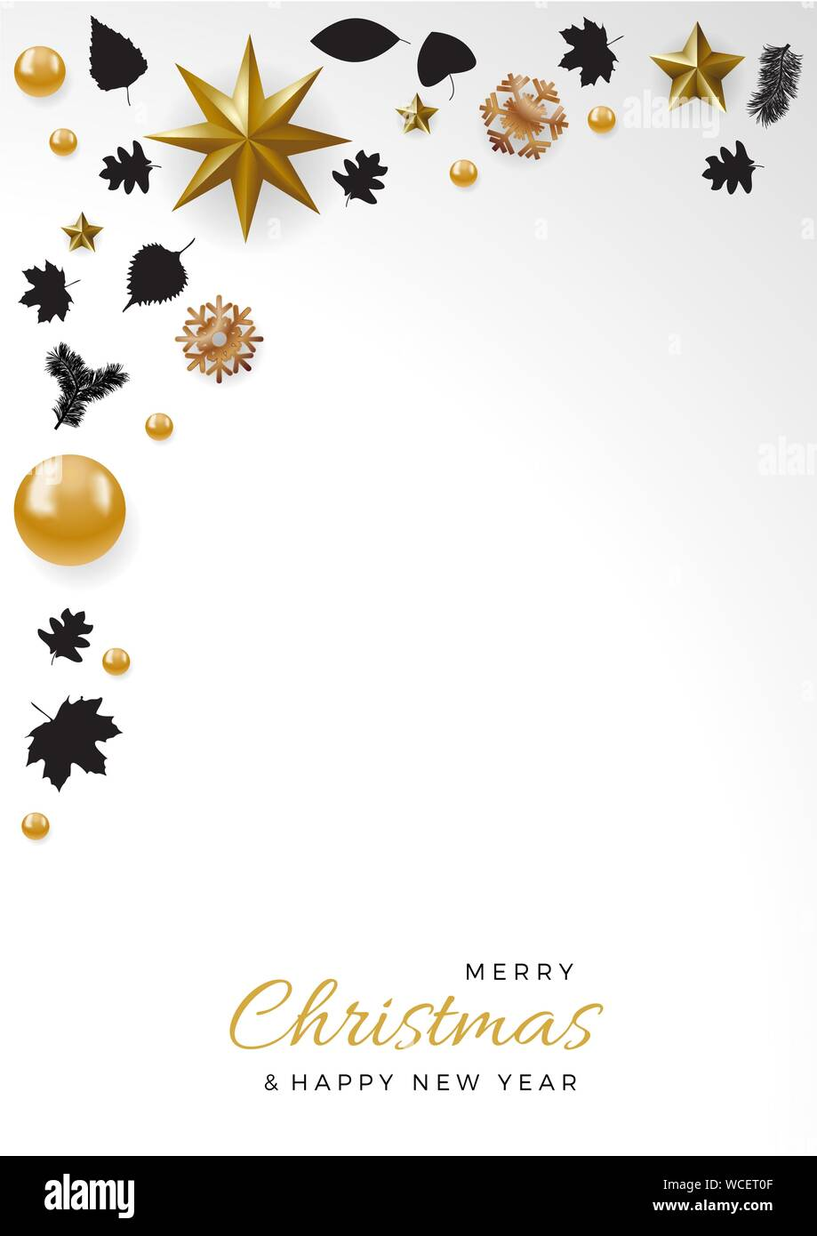 cute christmas wallpaper decorations with copy space in a frame and text on white background WCET0F