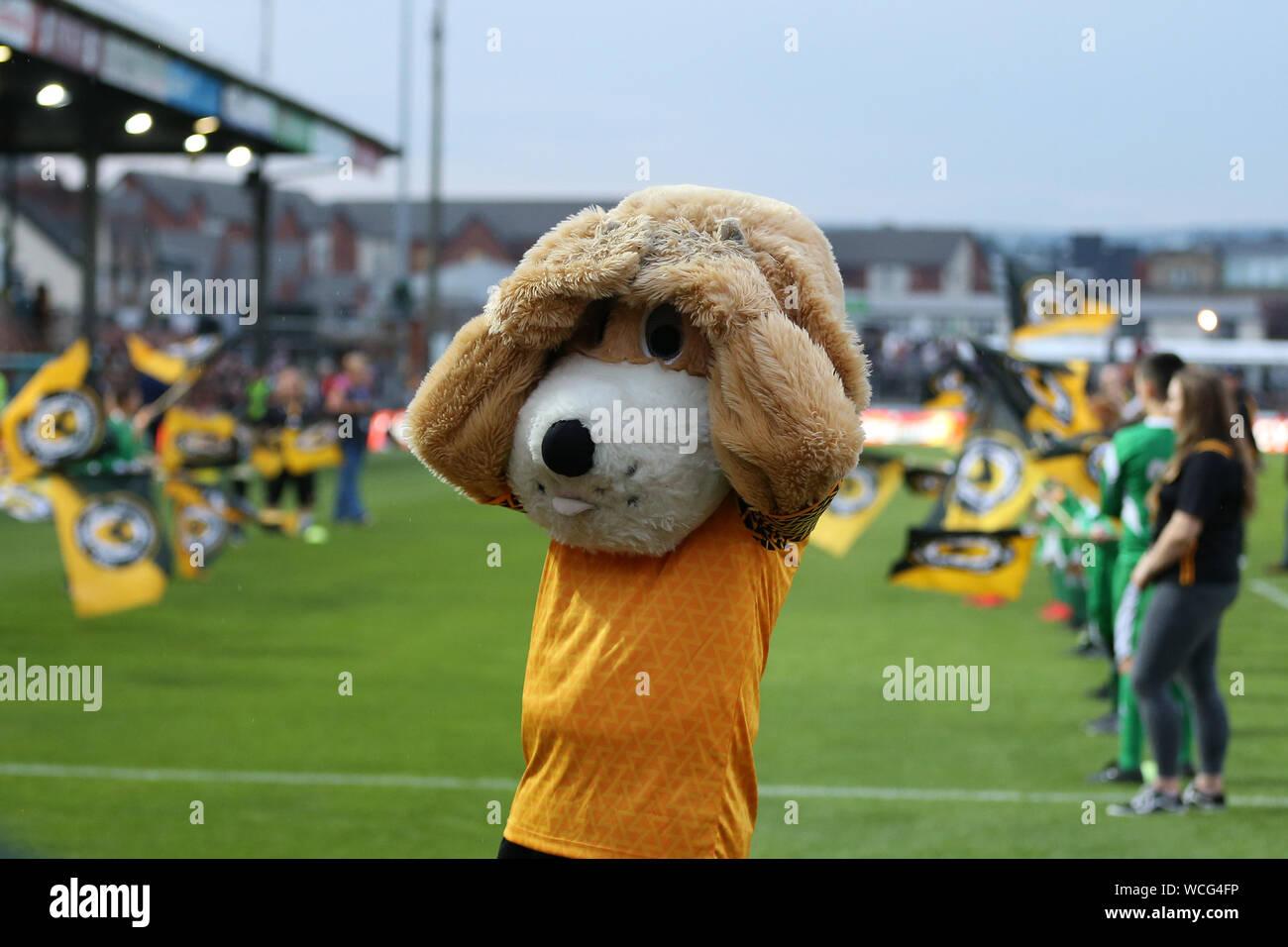 Newport Uk 27th Aug 2019 Newport County Mascot Spytty
