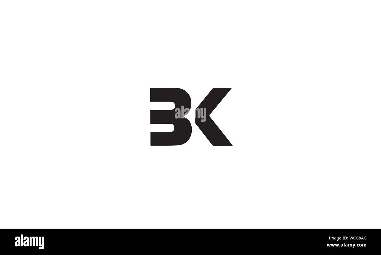 Bk Kb B K Abstract Letter Mark Logo Template Stock Vector