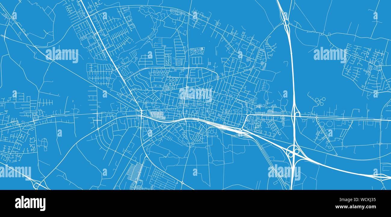 Urban vector city map of Herning, Denmark Stock Vector