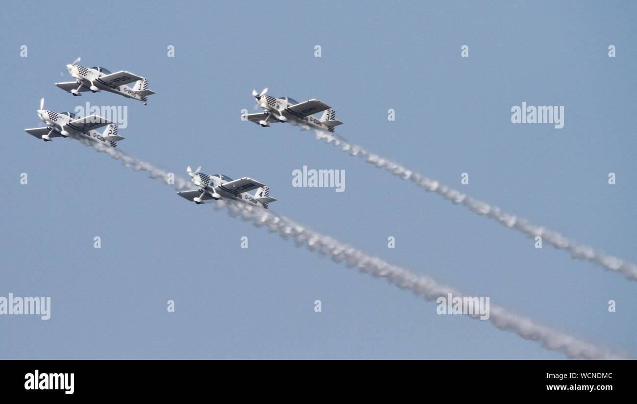 Rhyl,Uk Rhyl Airshow 2019 featuring Typhoon credit Ian Fairbrother/Alamy Stock Photos Stock Photo