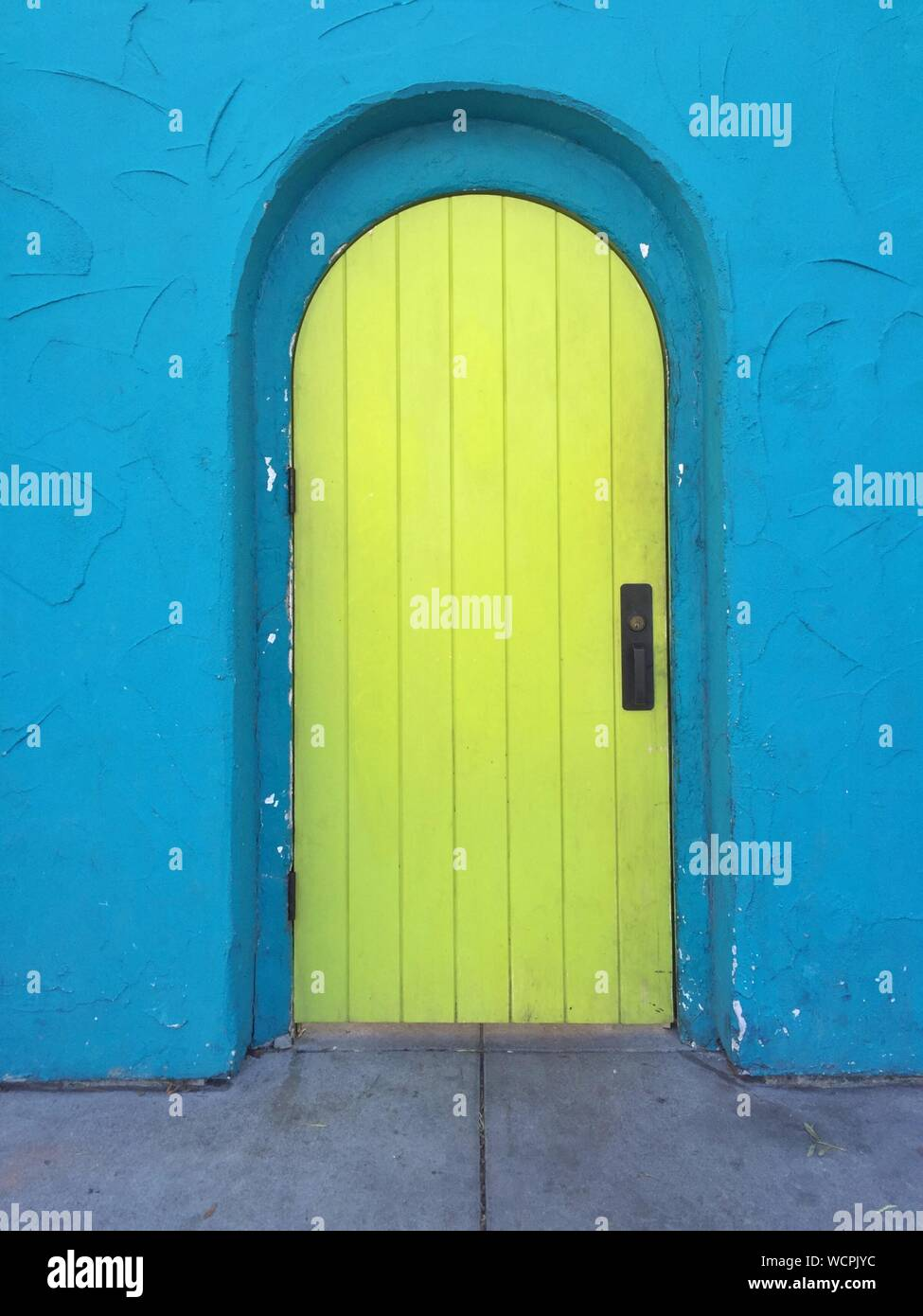 Yellow Door Of House Stock Photo Alamy