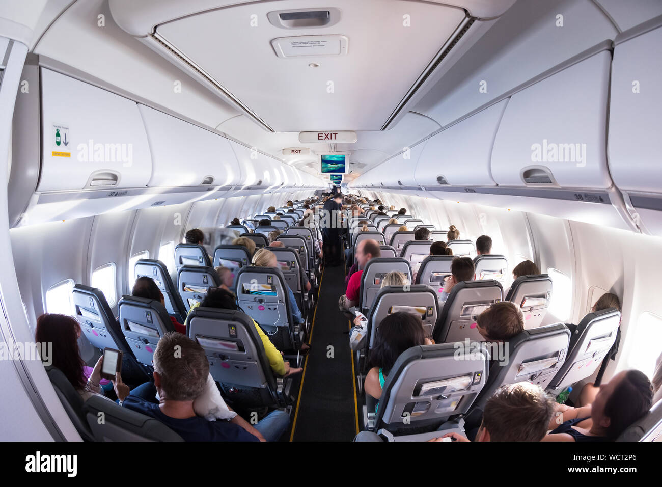 Airplane Inside View