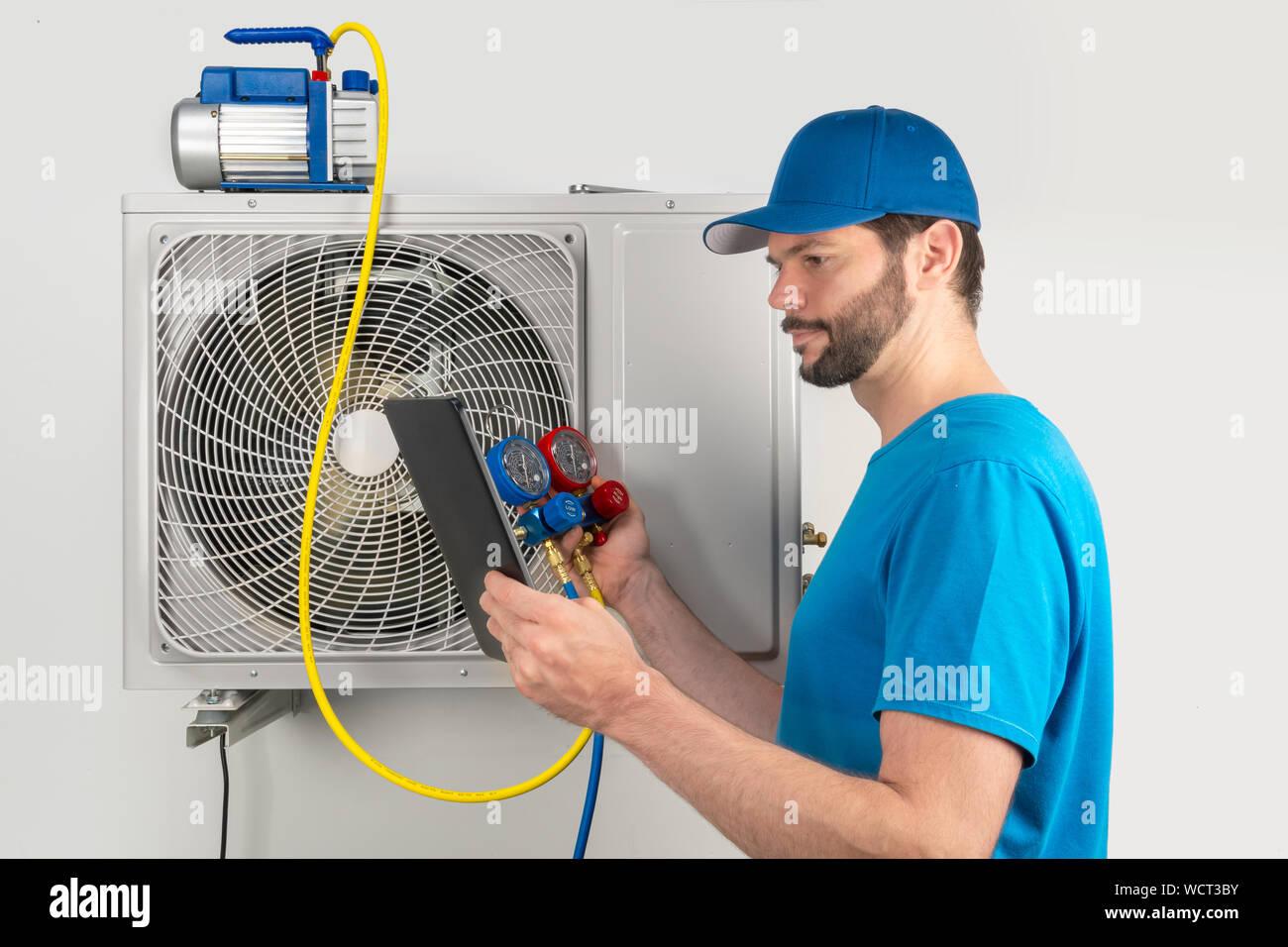 Installation service fix repair maintenance of an air