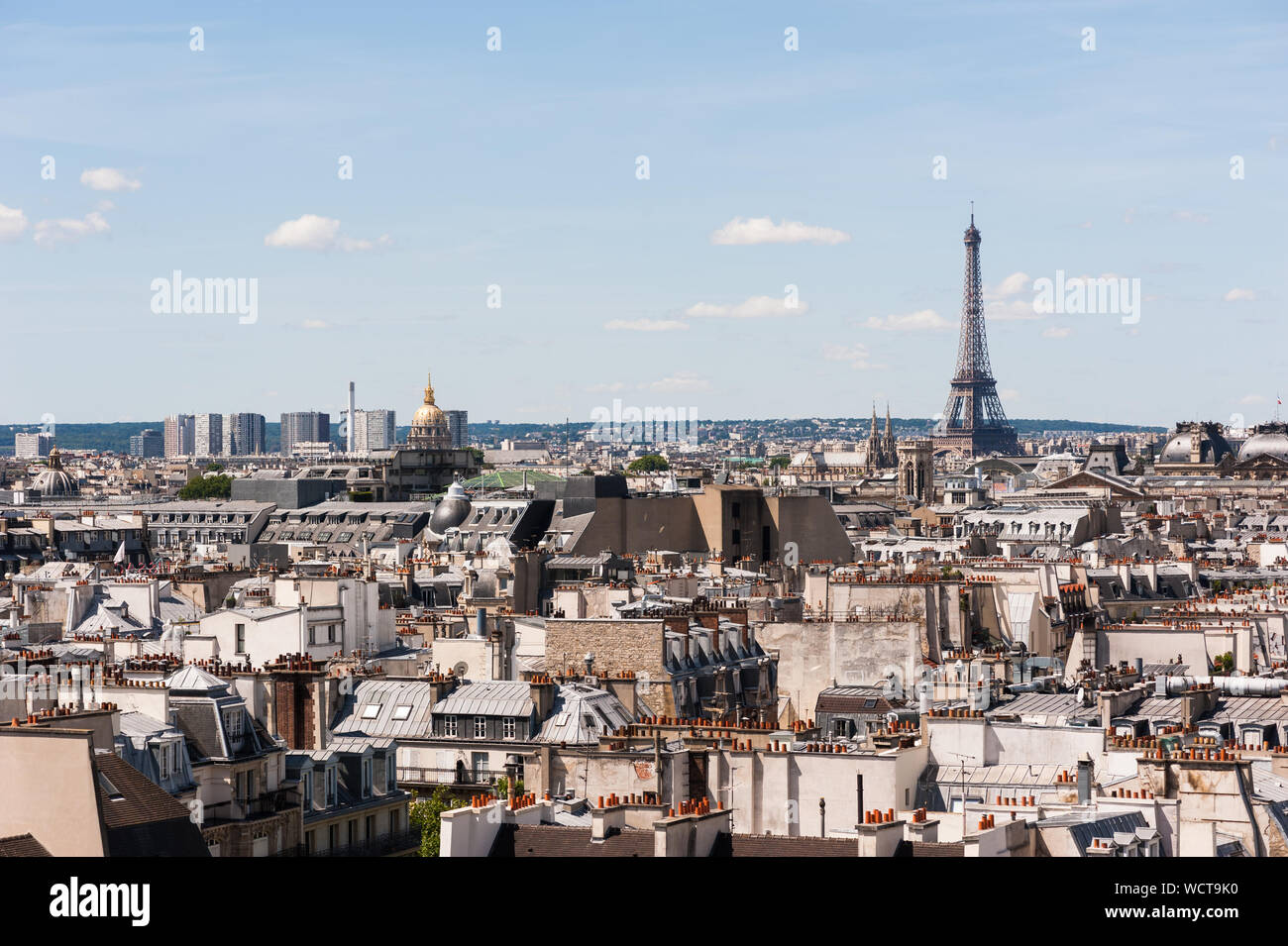 Paris roofs by a sunny afternoon Stock Photo