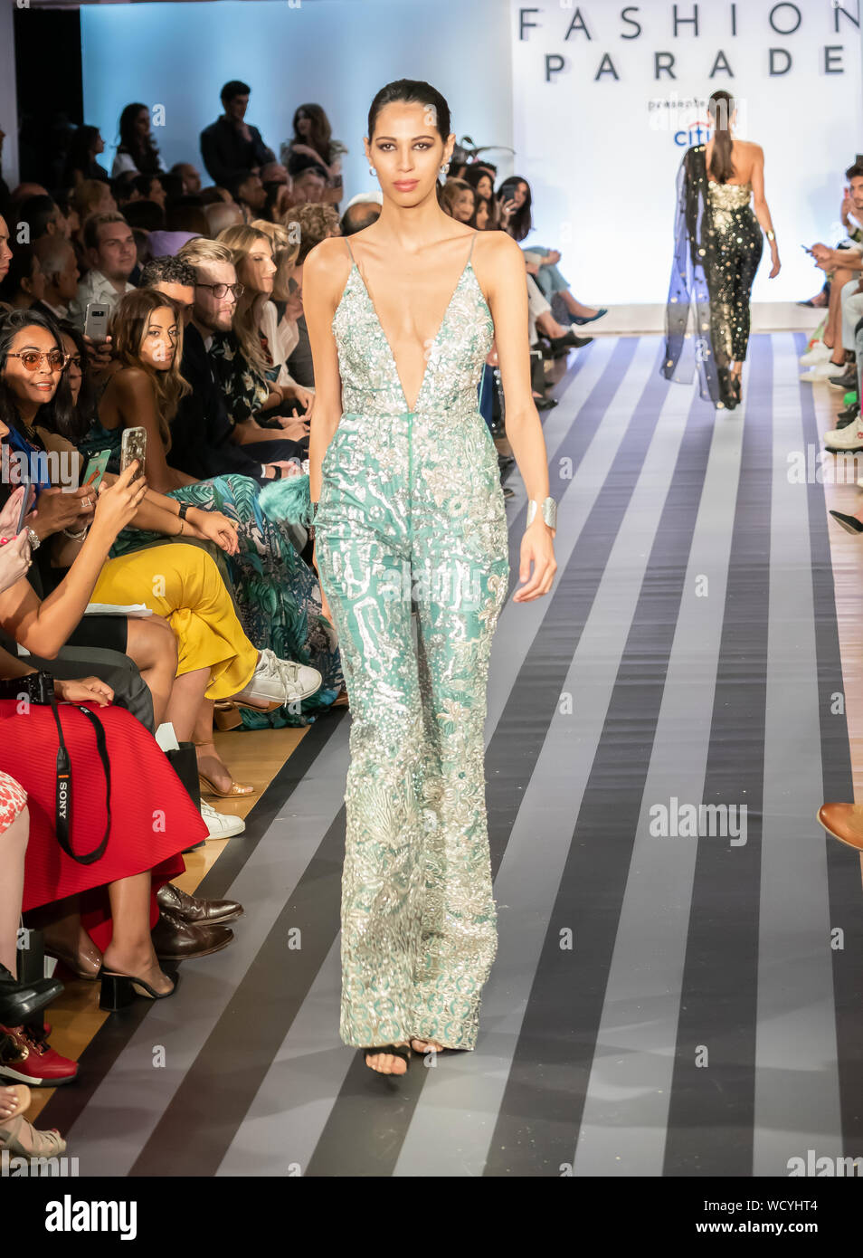 Manhattan New York Usa August 27 2019 Fashion Parade At Christie S South Asian Designs Of Ali Xeeshan Delhi Vintage Co Elan By Khadijah Shah Stock Photo 266138100 Alamy