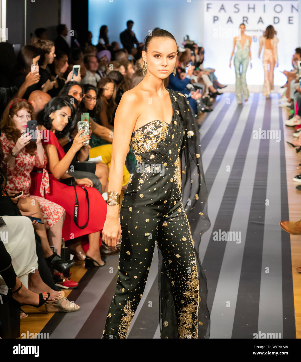 Manhattan New York Usa August 27 2019 Fashion Parade At Christie S South Asian Designs Of Ali Xeeshan Delhi Vintage Co Elan By Khadijah Shah Stock Photo Alamy