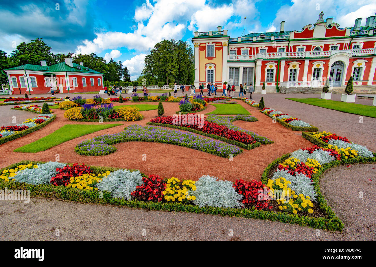 View of gardens and Kadriorg, summer home of Catherine the Great, in Tallinn, Estonia Stock Photo