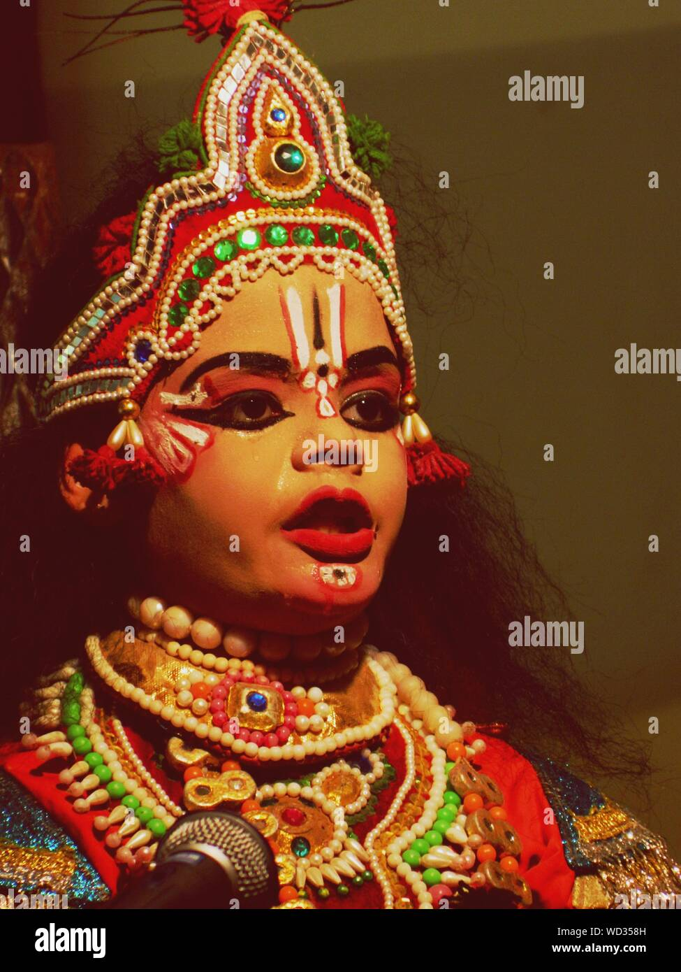 boy in krishna costume while performing yakshagana WD358H