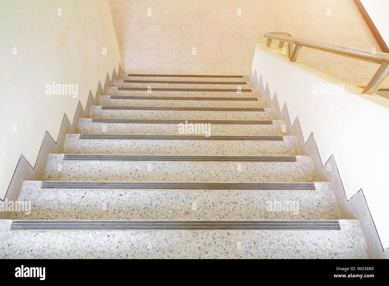 Stairs Terrazzo Floor Walkway Up Down Interior Building