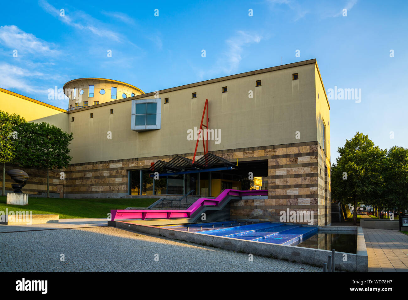 Stuttgart, Germany, August 25, 2019, Beautiful Building Of