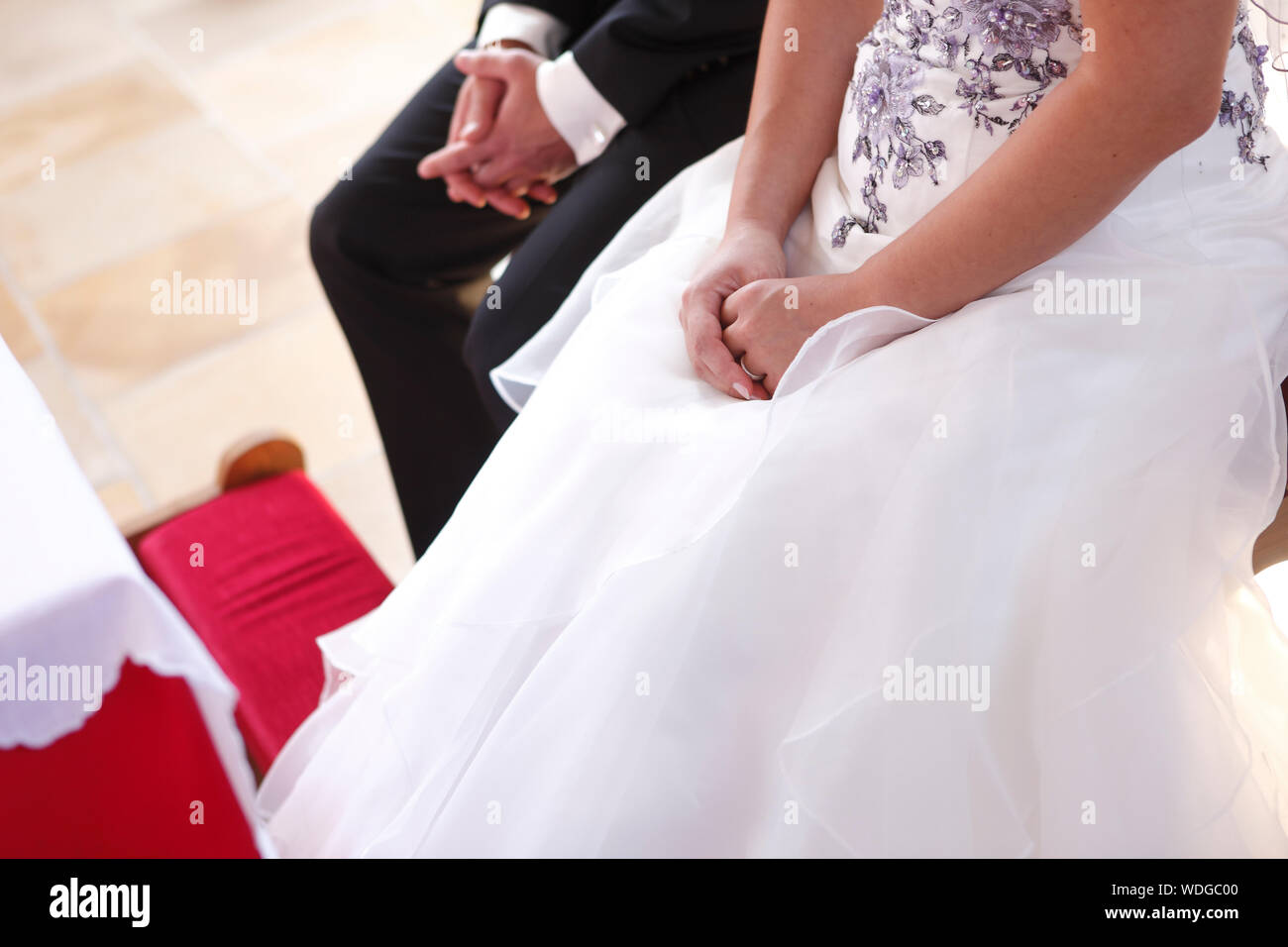 Couple At Wedding Stock Photo