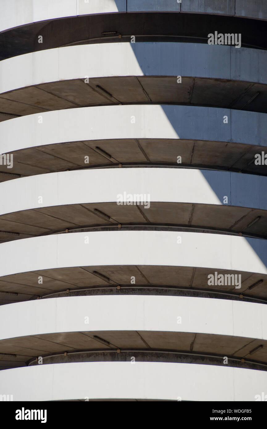 Full Frame Of San Siro Stadium On Sunny Day - Stock Photo