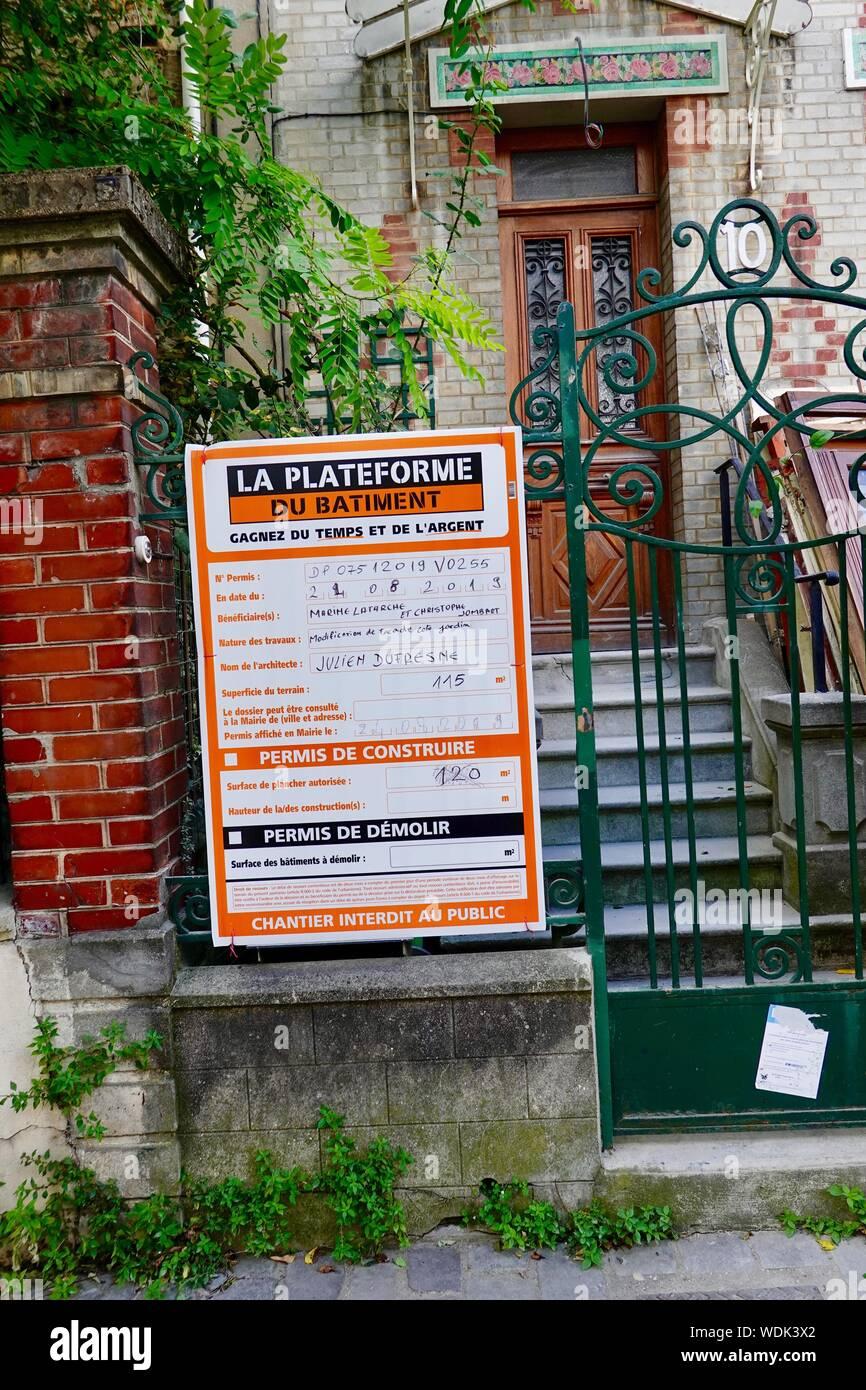 Plateforme Du Batiment Gennevilliers renovation, house france stock photos & renovation, house