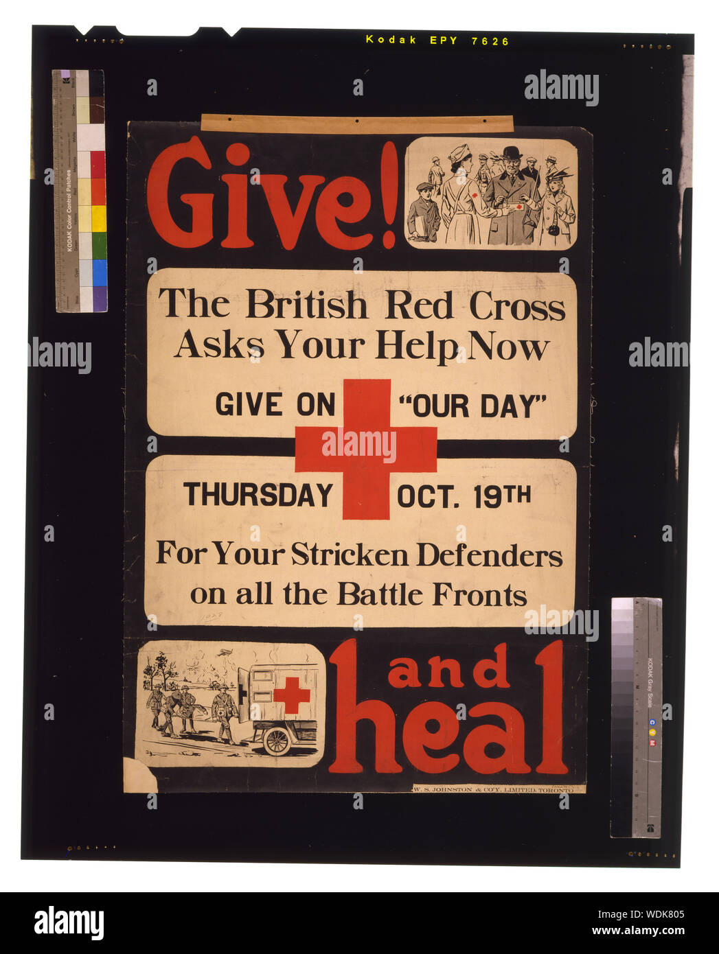Give! and heal / W.S. Johnston & Co'y, Limited, Toronto. Abstract/medium: 1 print (poster): lithograph, color 98 x 68 cm. Stock Photo
