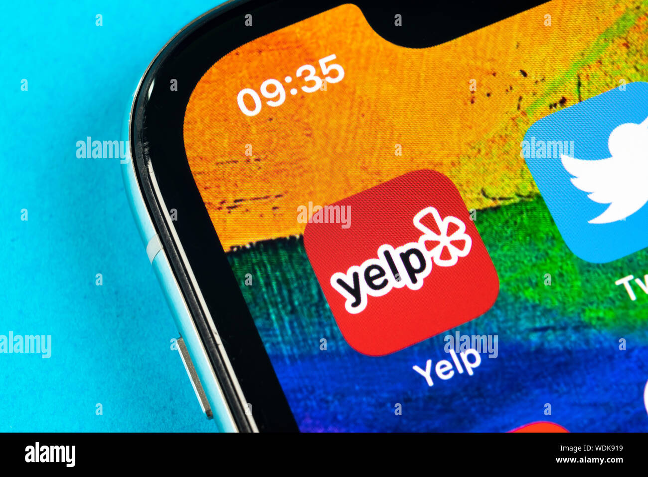 Helsinki, Finland, May 4, 2019: Yelp application icon on