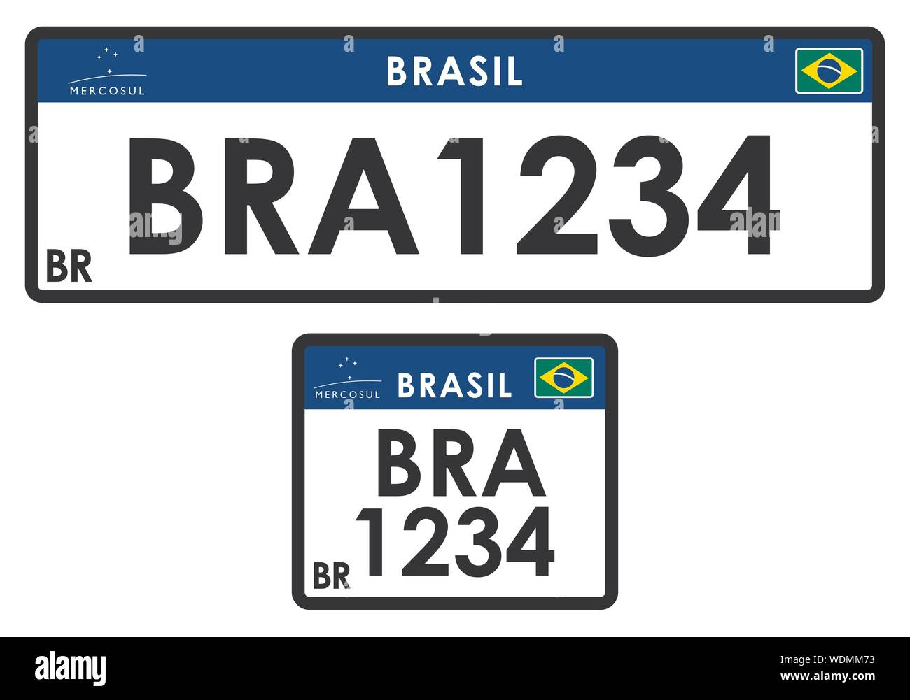 Bra Sticker Car Vehicle Number Plate Country Codes Brazil Sign
