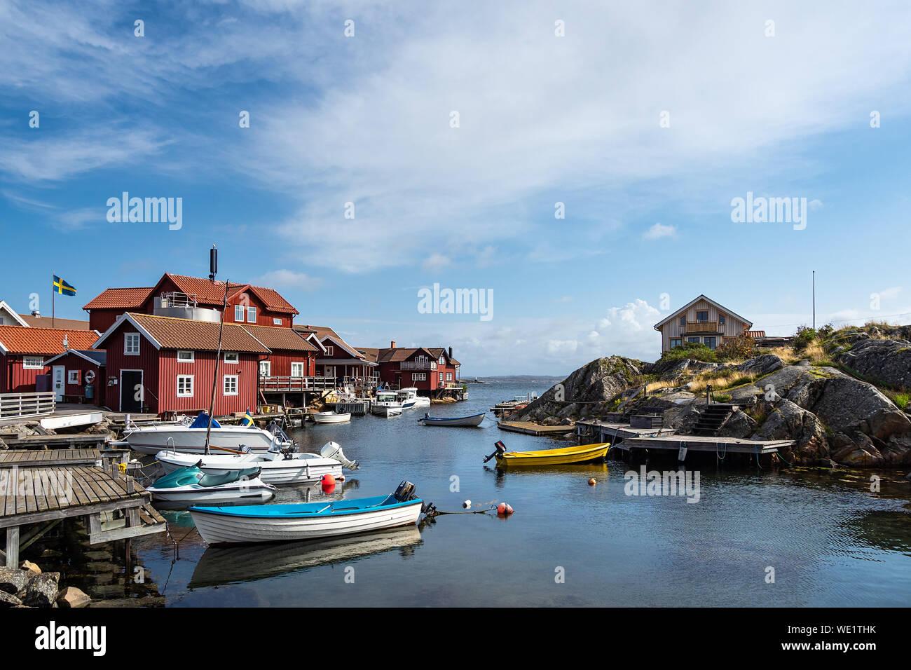 View to the island Kaeringoen in Sweden. Stock Photo