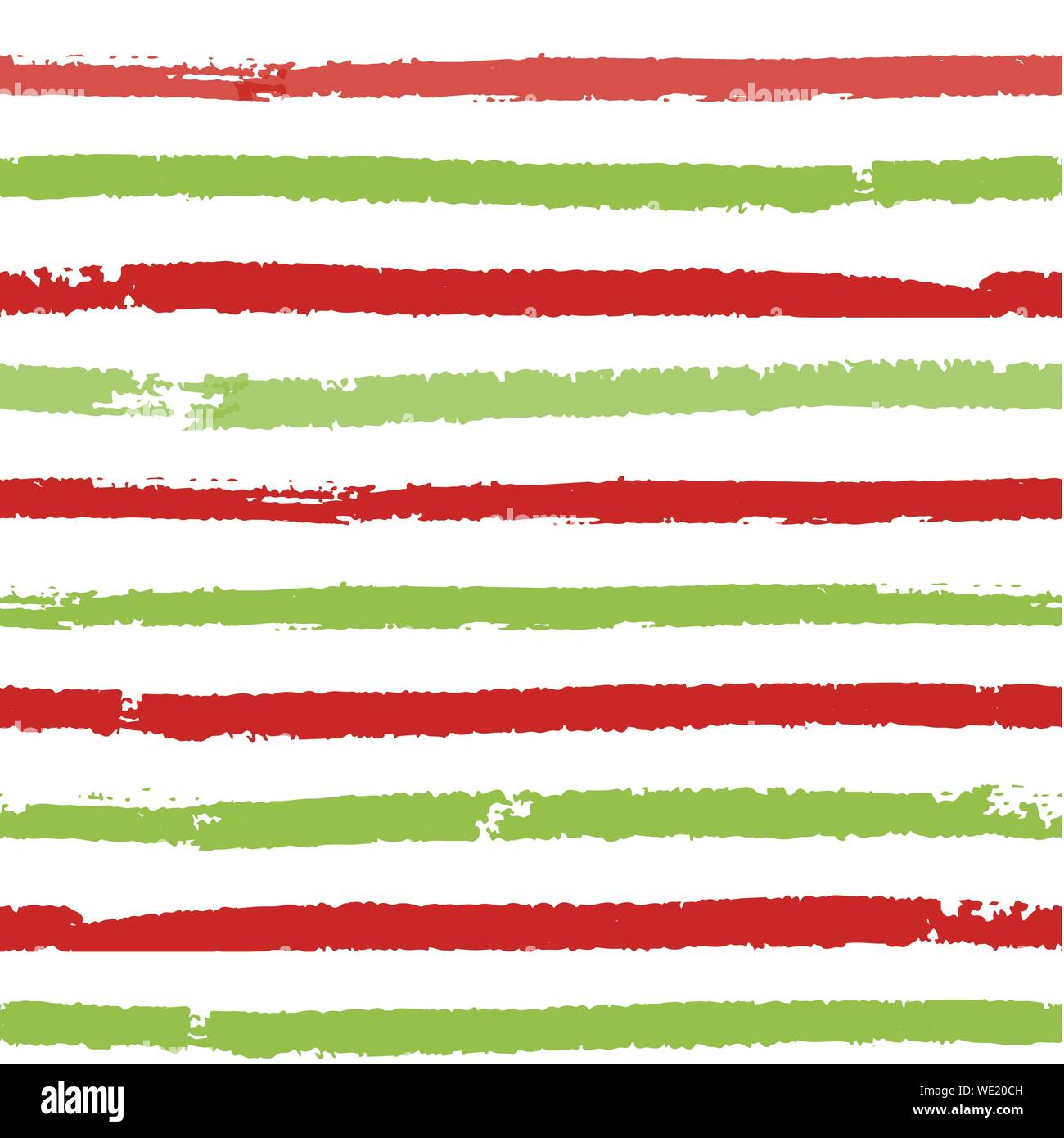 Christmas striped background. Seamless vector pattern with brush painted lines. For fashion print, wallpaper, wrapping paper, packaging, card design Stock Vector