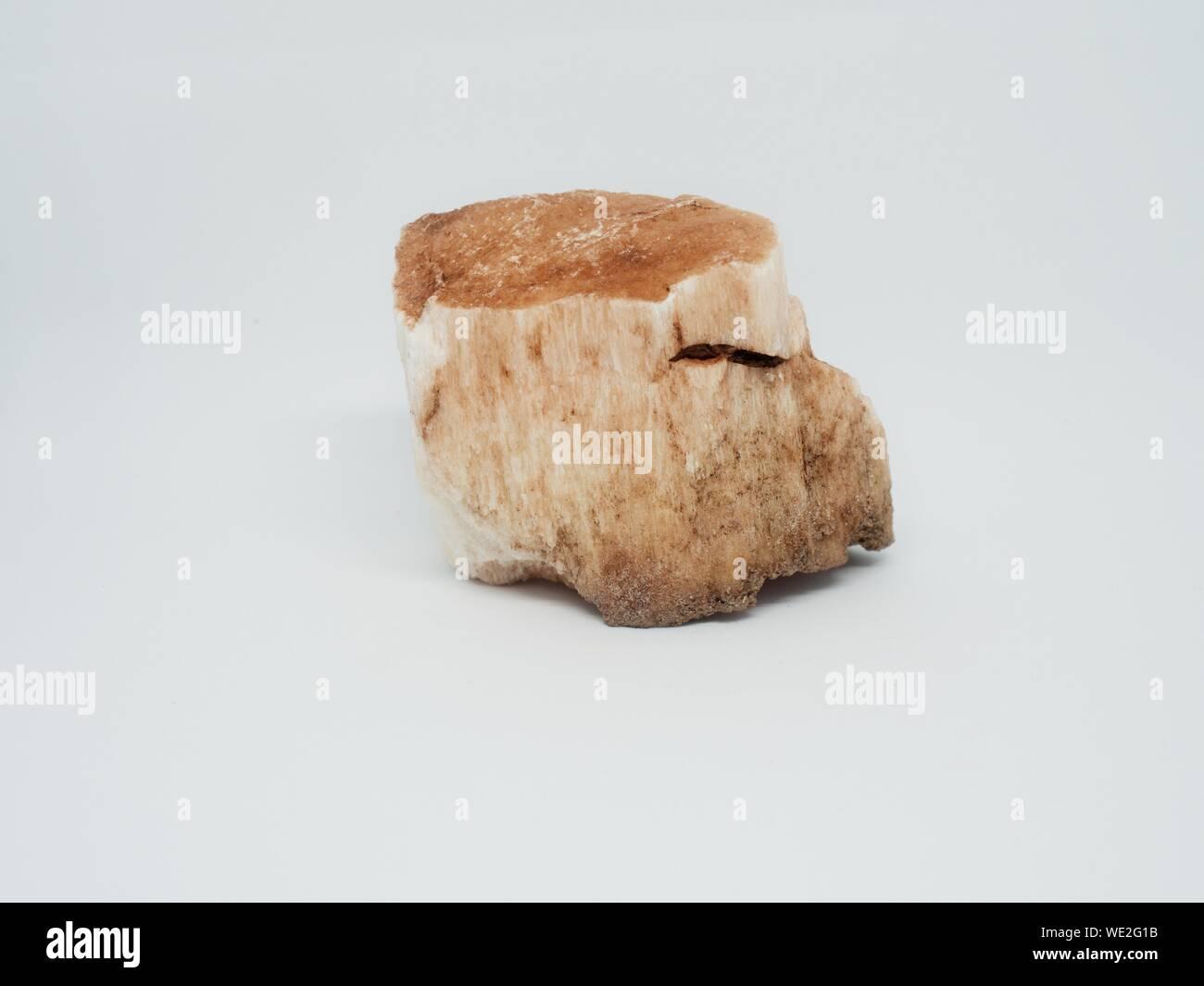 Raw pink mineral rock gem stone, broken piece quartz geology Stock Photo
