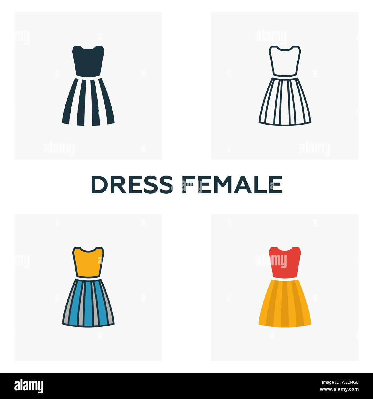 Fashion Drawing Woman Evening Dress Stock Photos & Fashion