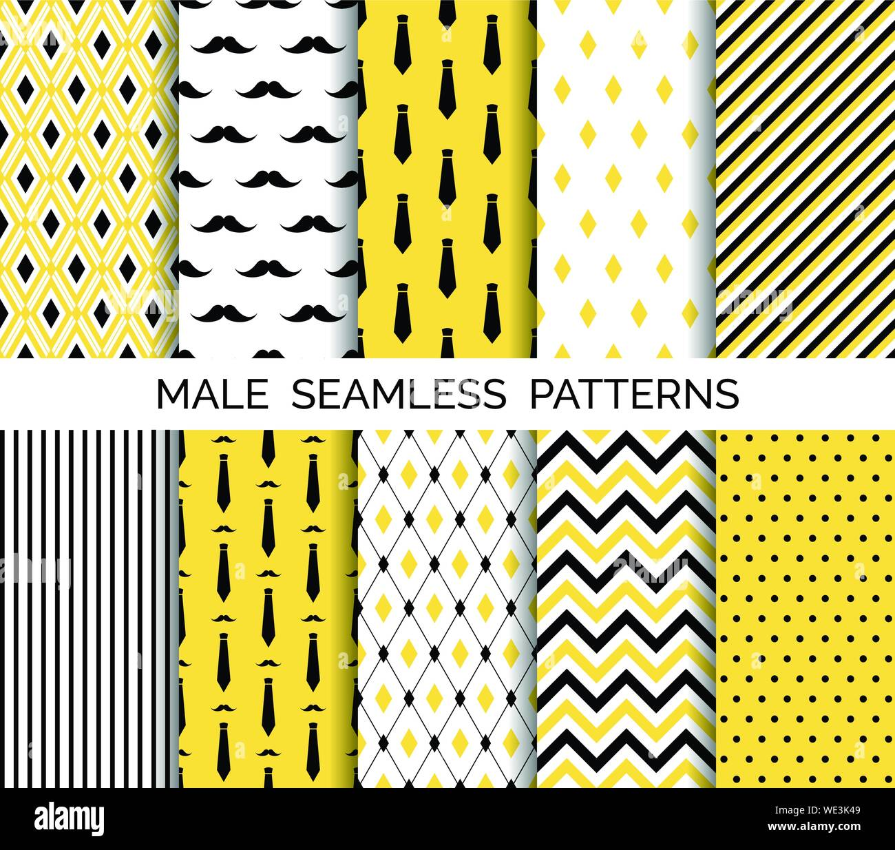 image about Printable Paper Patterns titled Fixed of printable vector gentleman seamless models. Wrapping