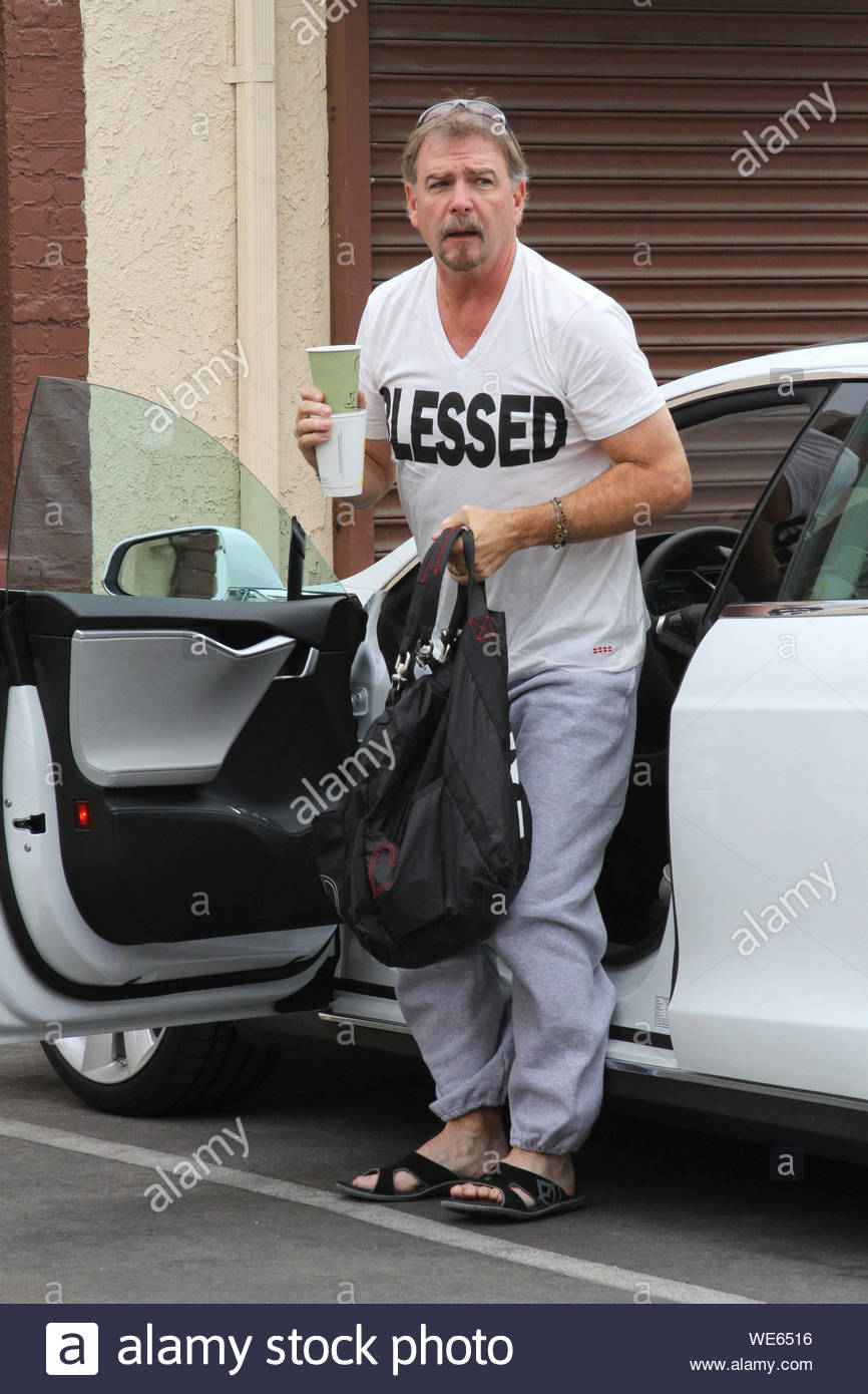 "Hollywood, CA - Bill Engvall gets ready to rehearse for ""Dancing With The Stars"". AKM-GSI October 24, 2013 Stock Photo"