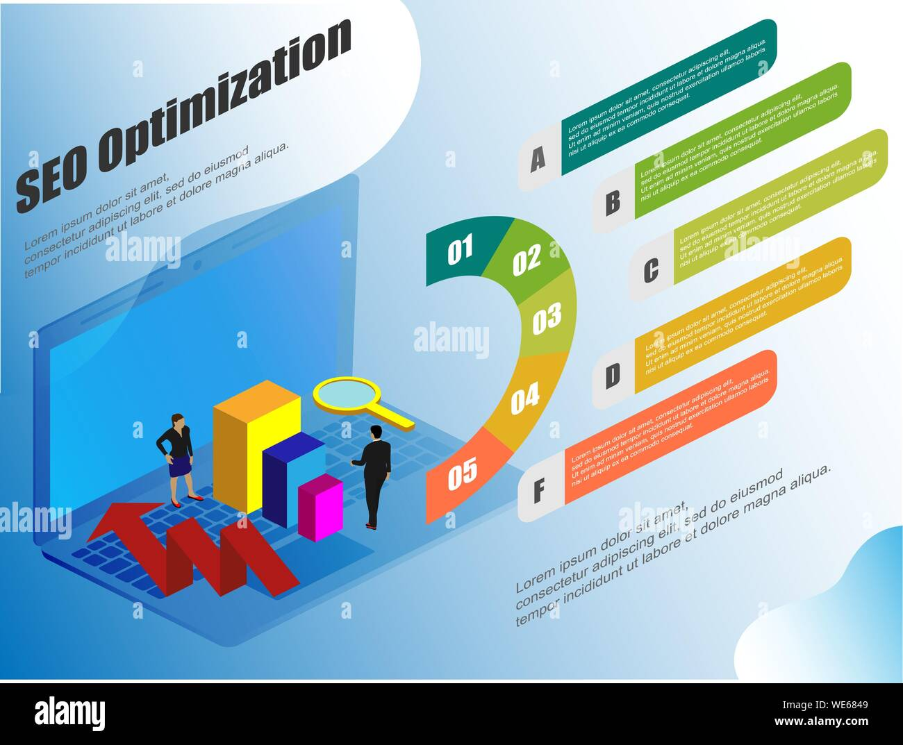 Isometric Great Design For Any Purposes Conceptual Web Seo Illustration Vector Seo Infographic Management Business Illustration For Web Stock Vector Image Art Alamy
