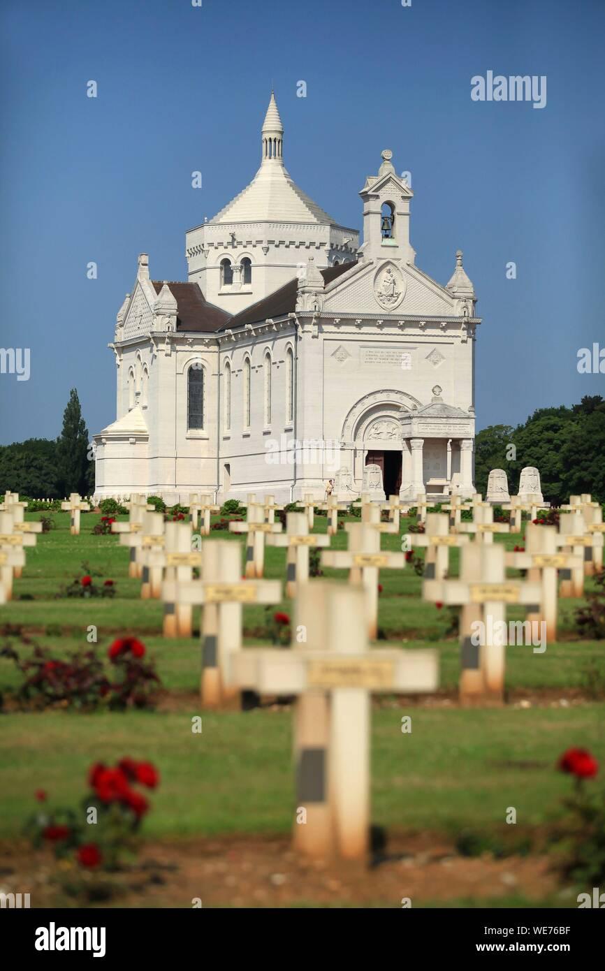 France, Pas de Calais, Ablain Saint Nazaire, the national necropolis of Notre Dame de Lorette Stock Photo