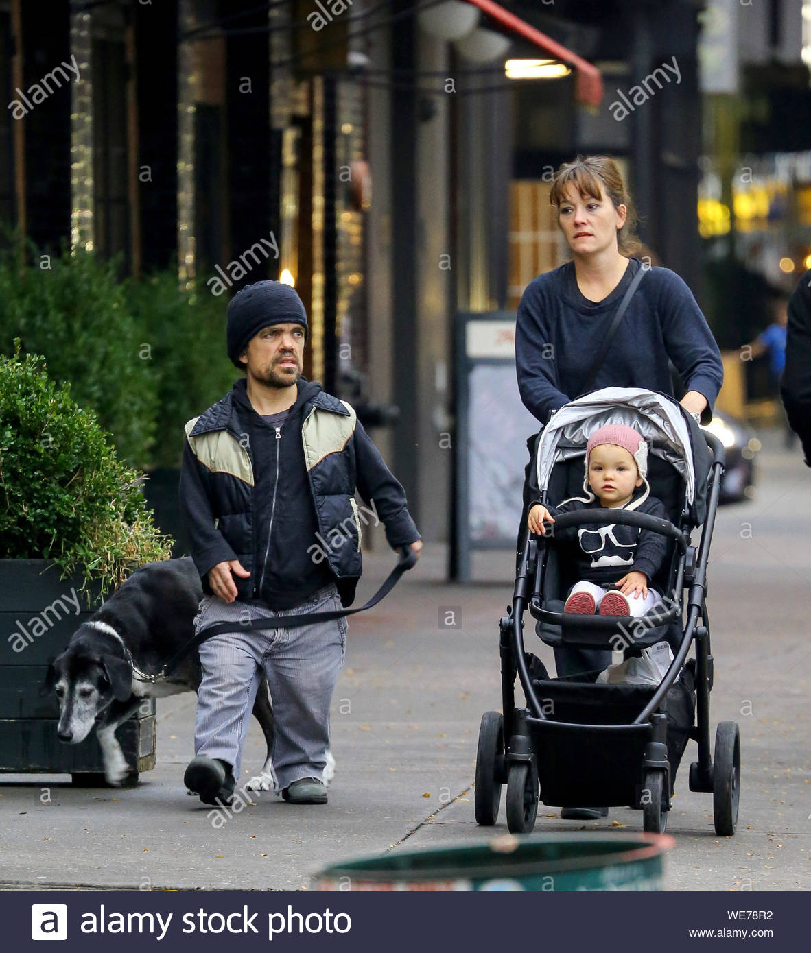 New York Ny Peter Dinklage And Wife Erica Schmidt Take Their Daughter Zelig Dinklage And The Family Dog Out For Stroll On A Halloween Day In New York City Akm Gsi October