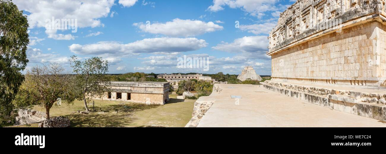 Mexico, Yucatan state, Uxmal, listed as World Heritage by UNESCO, archaeological site Stock Photo