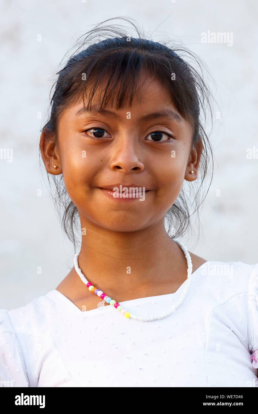 Mexico, Campeche state, Campeche, young girl portrait Stock Photo