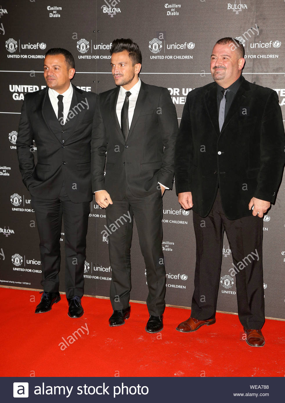 London, UK - Peter Andre arrives for the United for Unicef dinner gala at Manchester United's Old Trafford ground. AKM-GSI November 21, 2013 Stock Photo