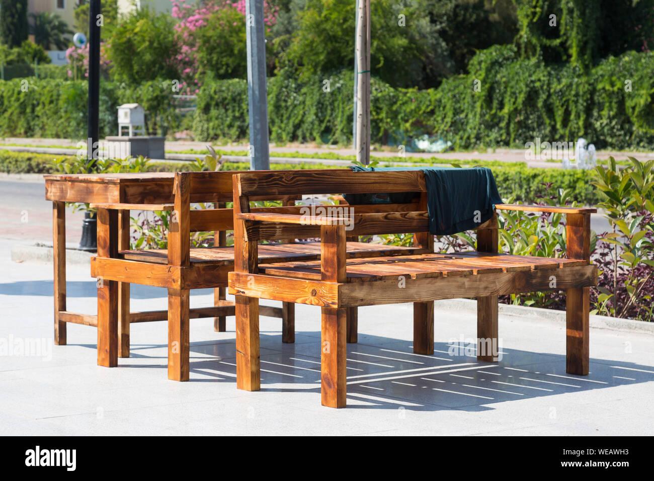 Strange Two Wooden Benches Stock Photos Two Wooden Benches Stock Spiritservingveterans Wood Chair Design Ideas Spiritservingveteransorg