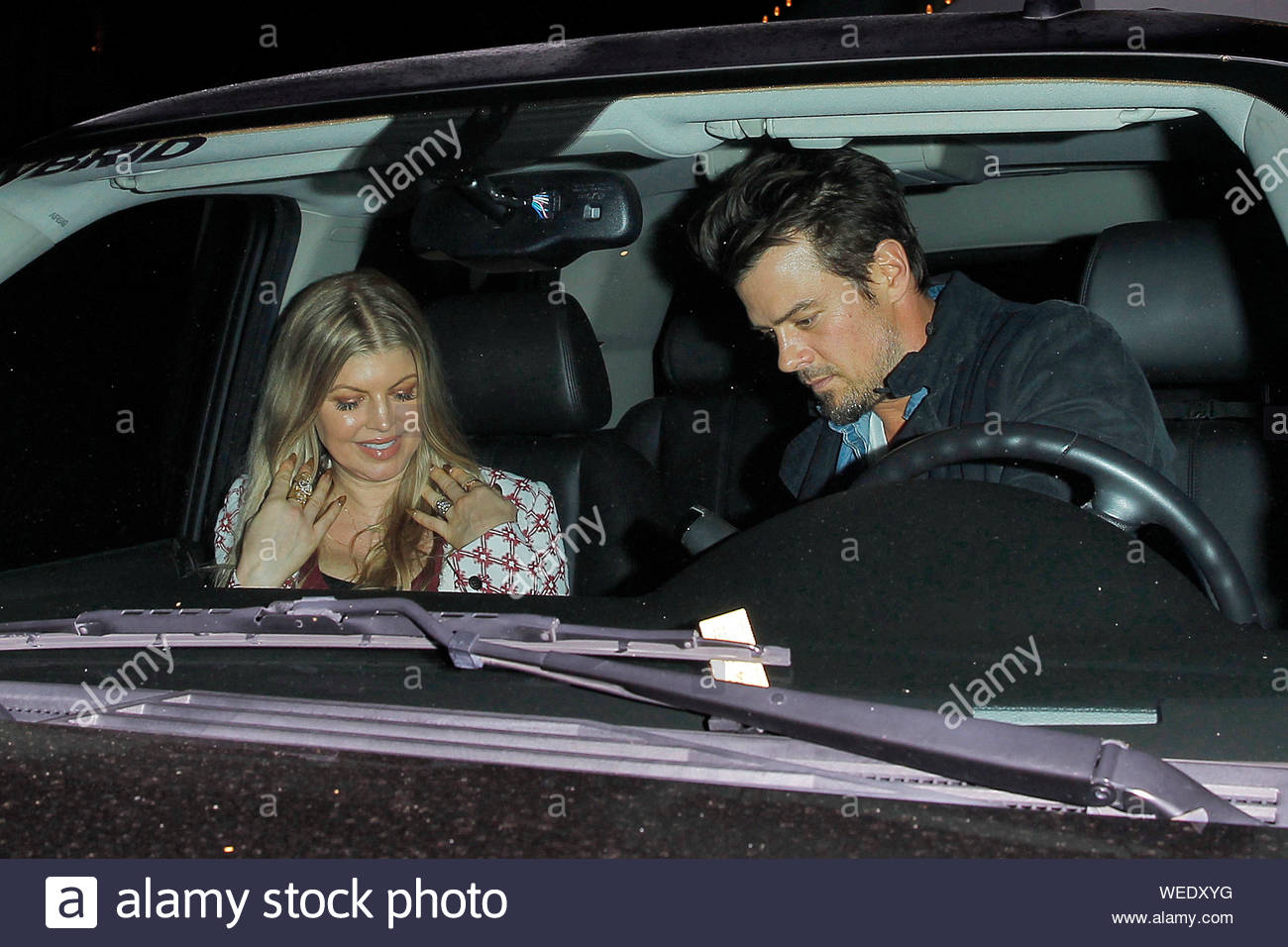 Brentwood Ca Fergie And Josh Duhamel Make It A Date Night At