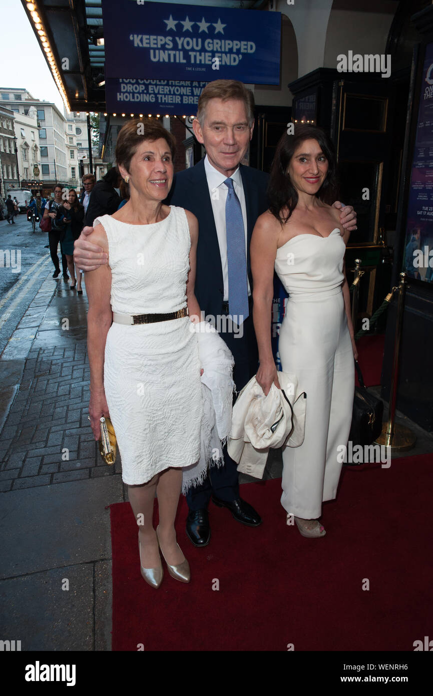 Seen arriving on red carpet for the Girl On The Train Press Night at Duke OF York Theatre, London. 30.07.19 Featuring: Anthony Andrews Where: London, United Kingdom When: 30 Jul 2019 Credit: WENN.com Stock Photo
