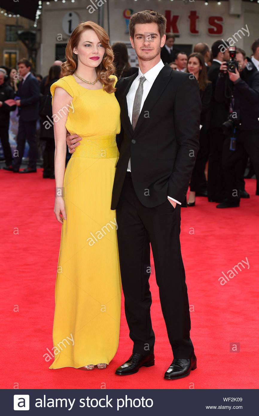London Uk Emma Stone And Her Boyfriend Andrew Garfield Attend The Premiere Of Their New Movie The Amazing Spider Man 2 In London The Couple Looked Happy As They Posed For Pictures