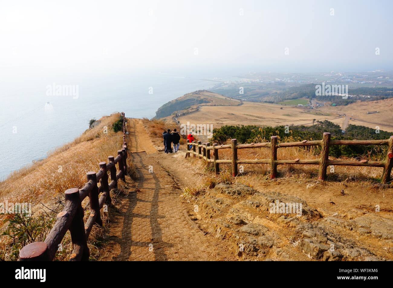 Scenic View Of Jeju Island Stock Photo