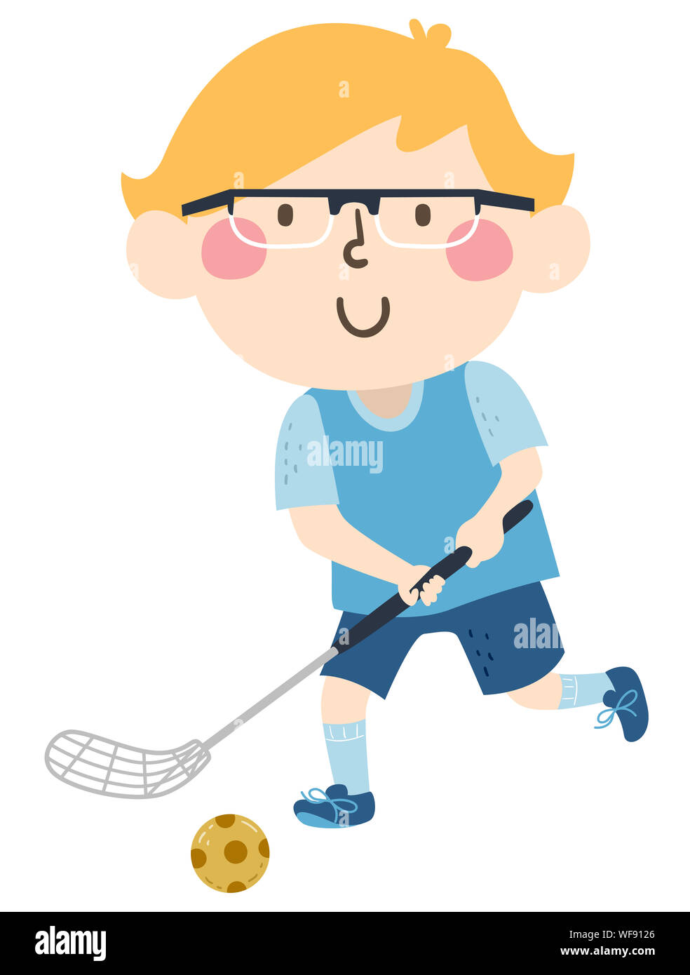 Cartoon Illustration Child Hockey Player High Resolution Stock Photography And Images Alamy