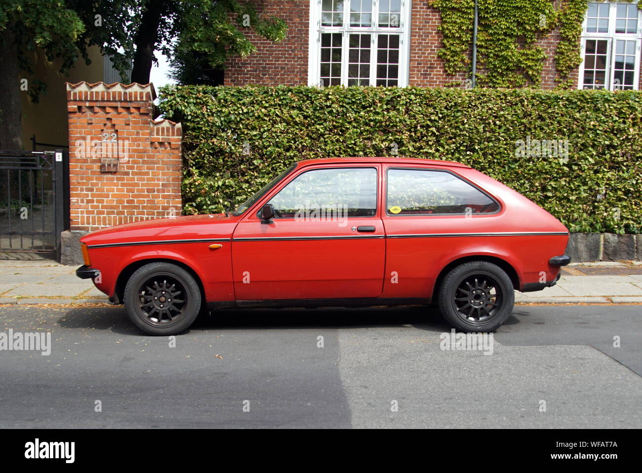 Riskilde Denmark July 19 2019 Opel Kadett C City Parked By The Side Of The Road Nobody In The Vehicle Stock Photo Alamy
