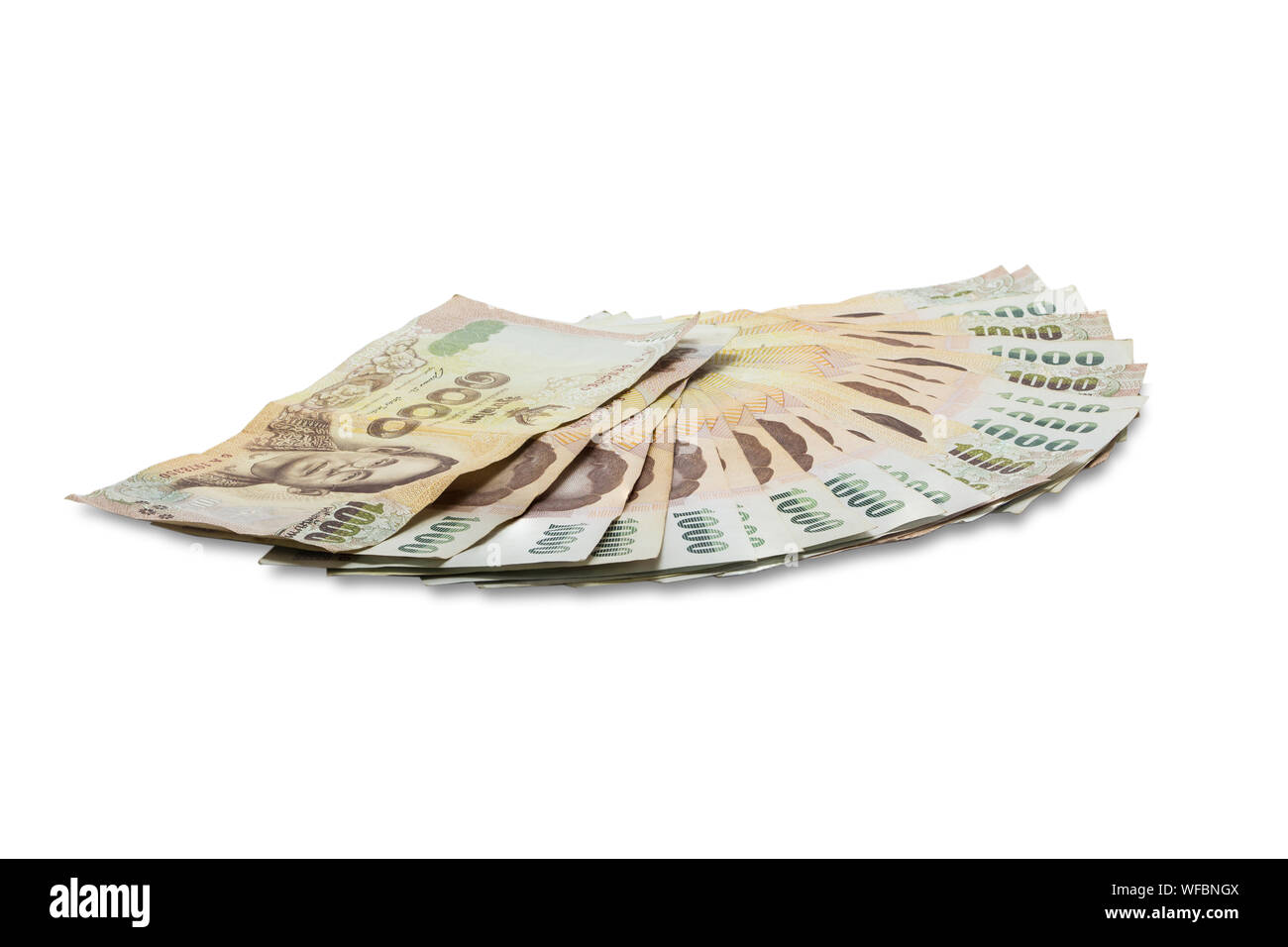 Thai Currency 1000 Baht Stock Photos & Thai Currency 1000