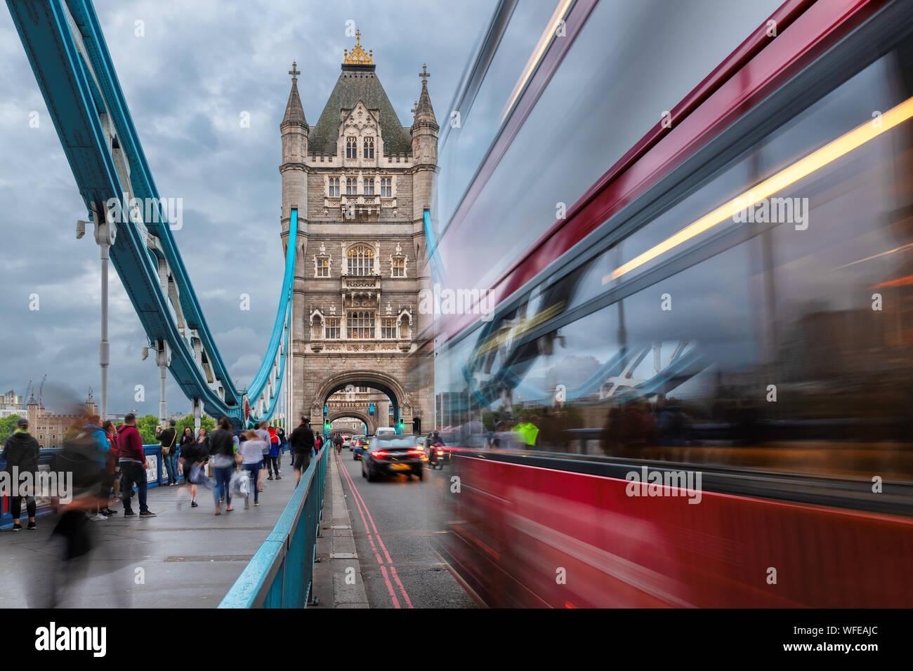Tower Bridge in London UK Stock Photo
