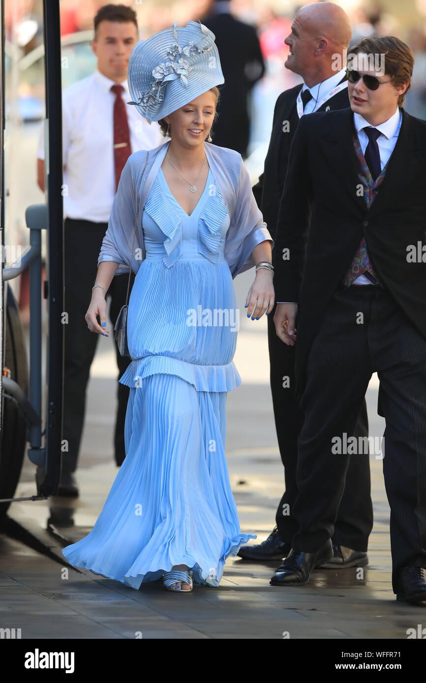 Guests Arriving At York Minster For The Wedding Of Singer