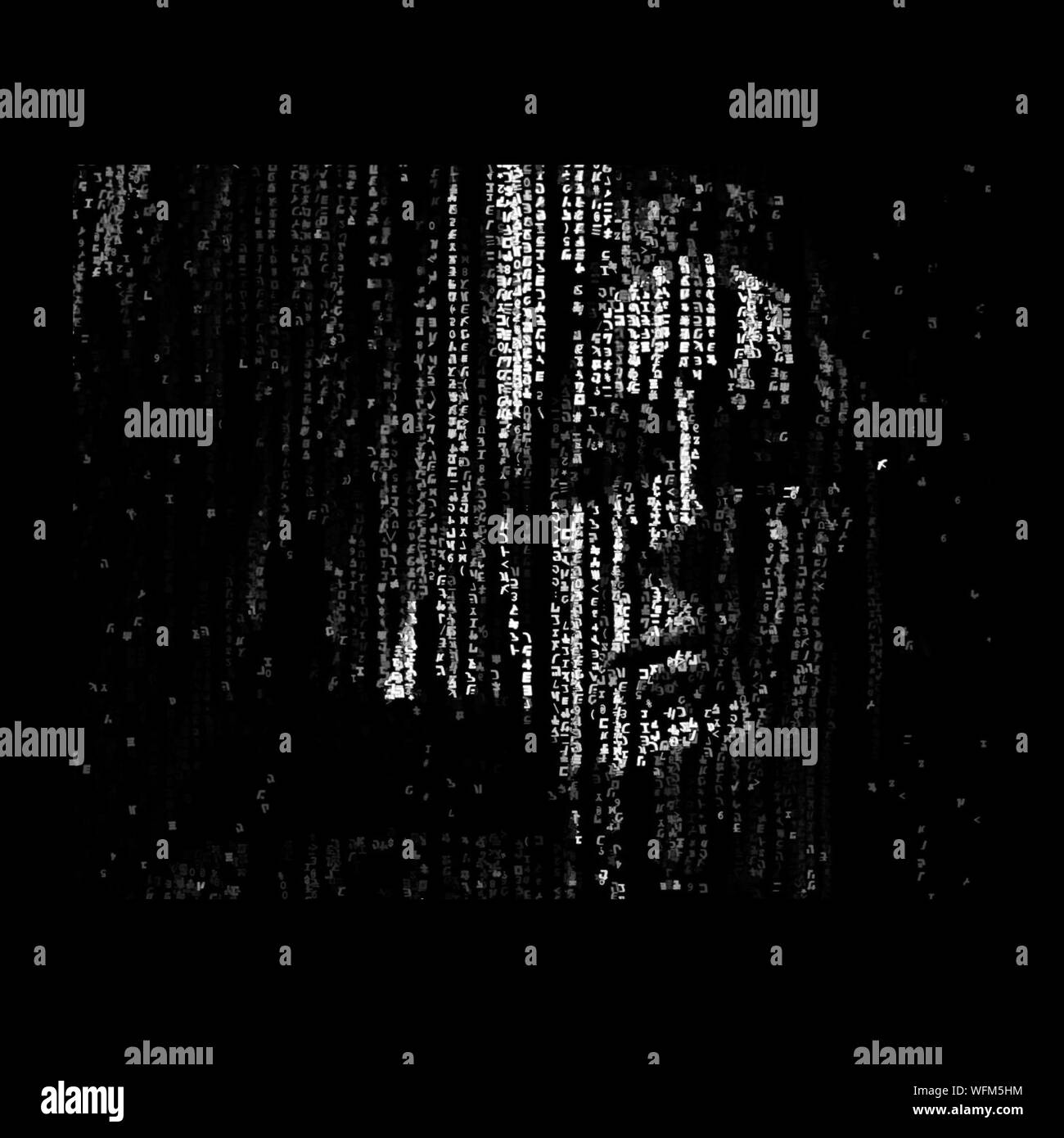 Digitally Generated Image Of Human Face Stock Photo