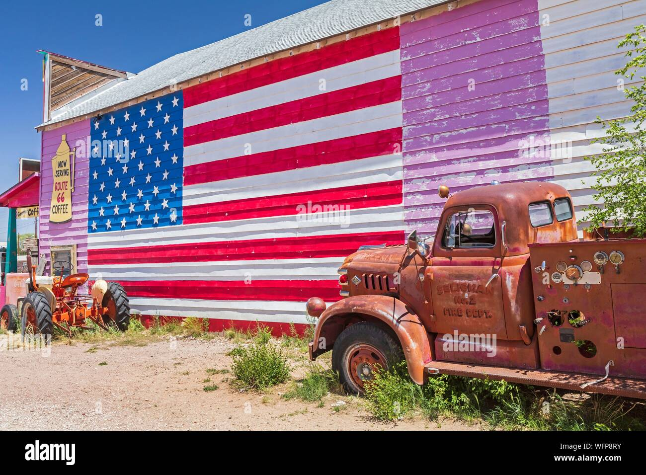 Truck With American Flag High Resolution Stock Photography And Images Alamy