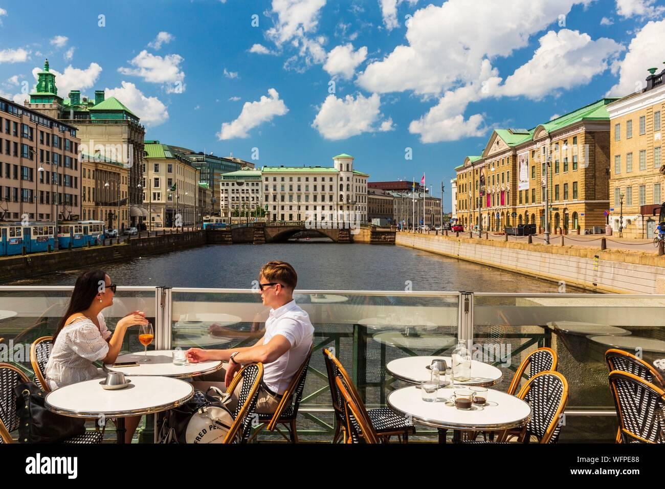Sweden Vastra Gotaland Goteborg Gothenburg Hamm Kanalen Canal Stock Photo Alamy