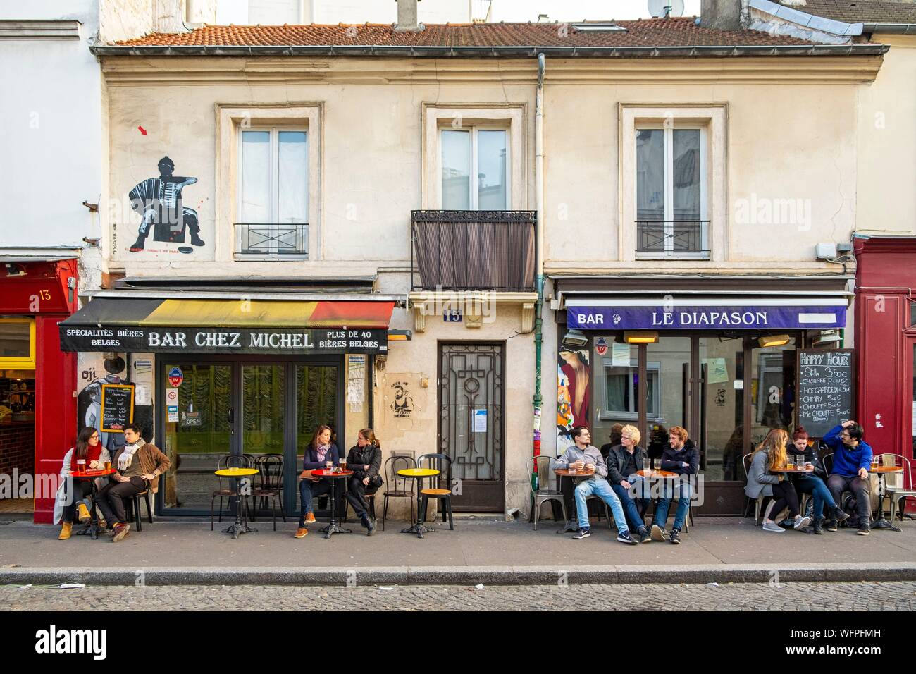 La Butte Aux Cailles Photos france, paris, district of the butte aux cailles stock photo